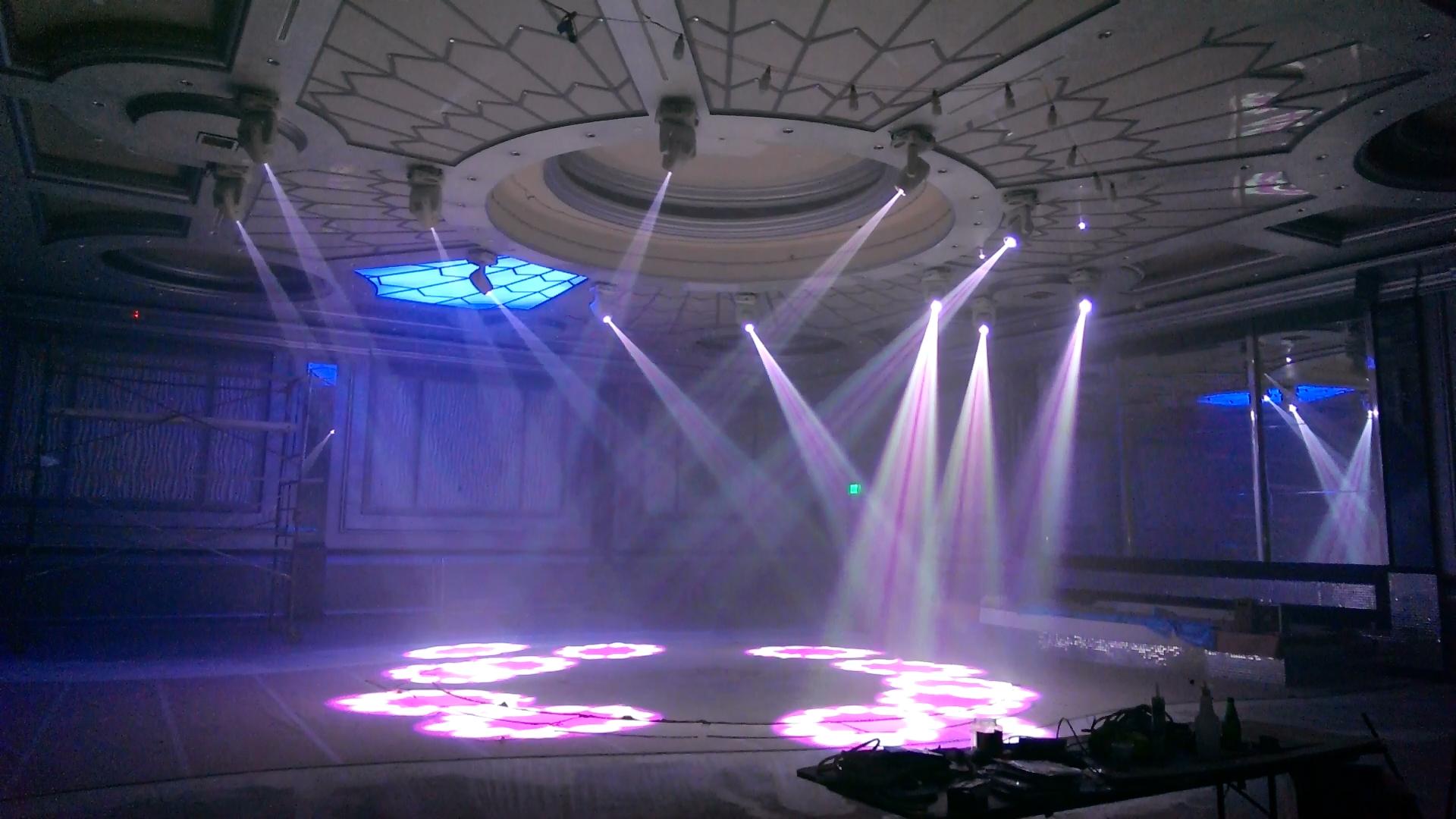 Bellaire banquet hall lighting allen productions - Licht nightclub ...