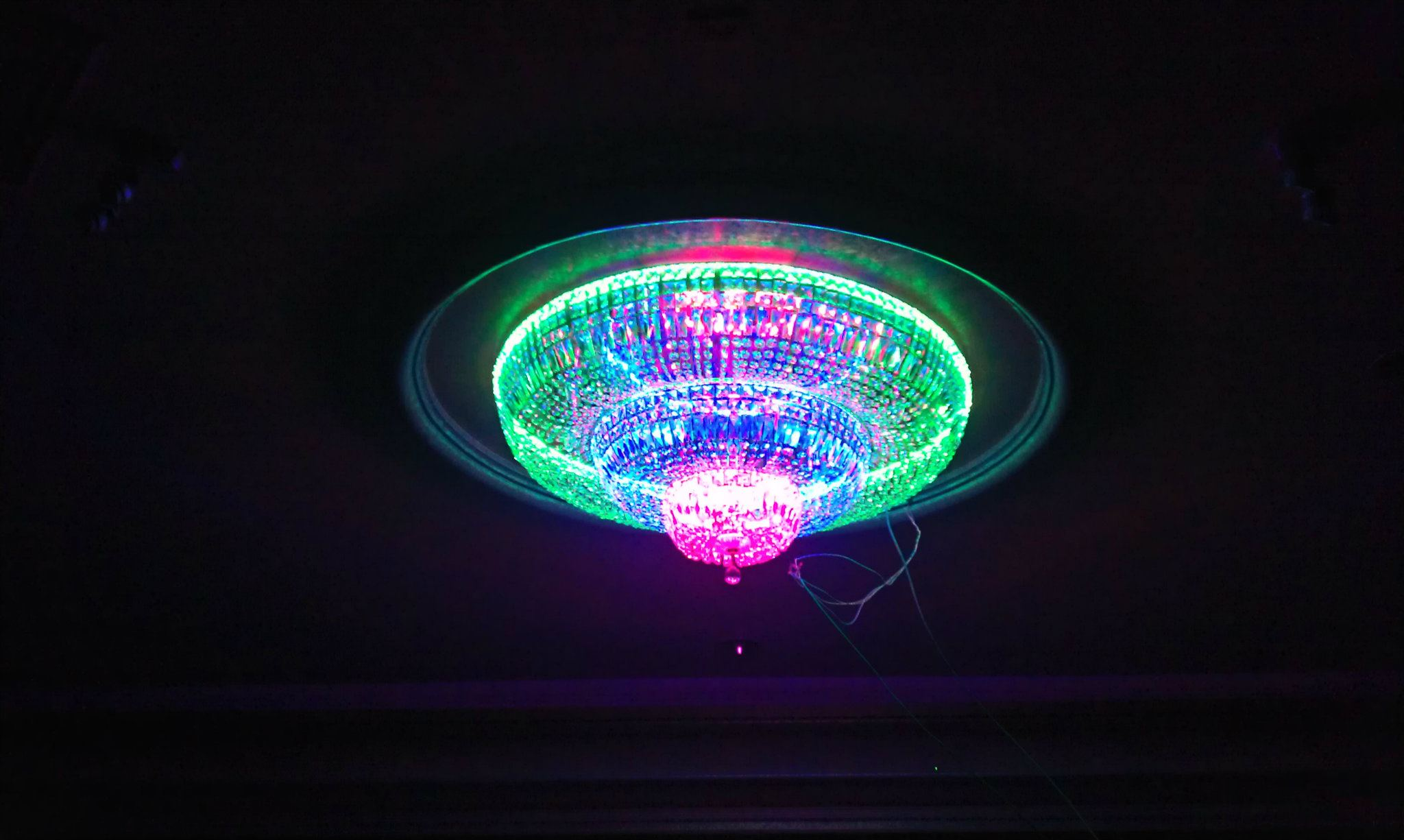 Rgb led chandelier musethecollective custom lighting allen ions arubaitofo Gallery