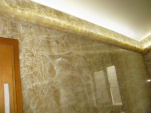 LEDs In Custom Stone Moldings - By: Allen Productions